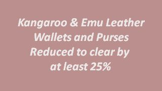 All Leather Wallets and Purses Reduced to clear