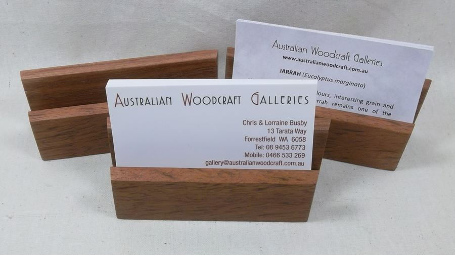 Business card holder handmade in western australia jarrah or oak business card holder in jarrah reheart Choice Image