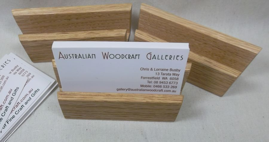 Where to buy a handcrafted business card holder great little gift business card holder in australian oak reheart Choice Image